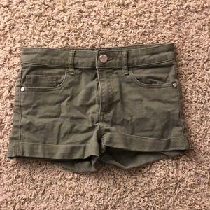 Navy green shorts